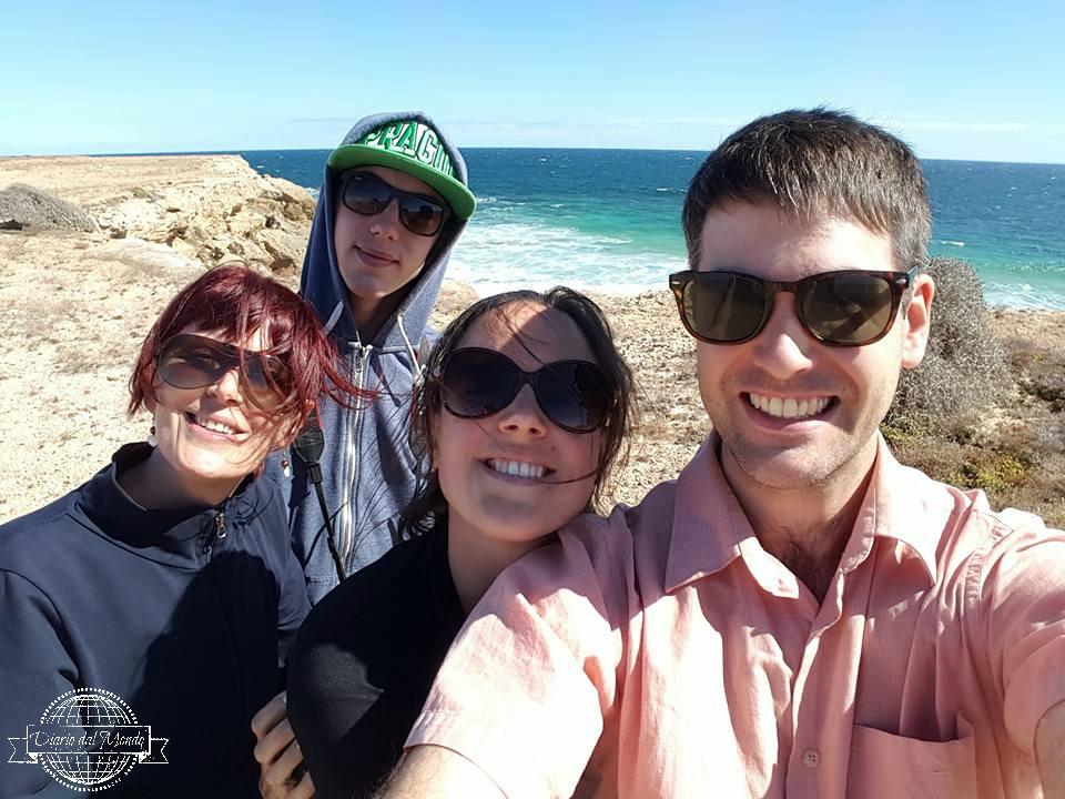 Family on the coast